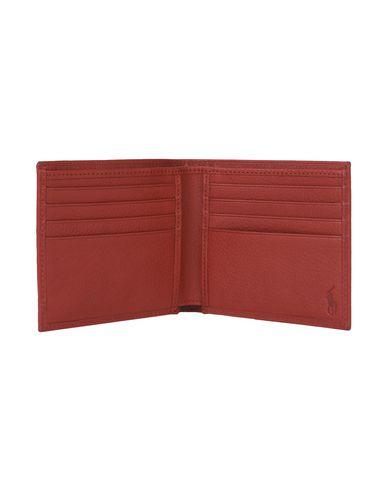 usa cheap sale closer at timeless design Polo Ralph Lauren Metal-Plaque Leather Billfold ...