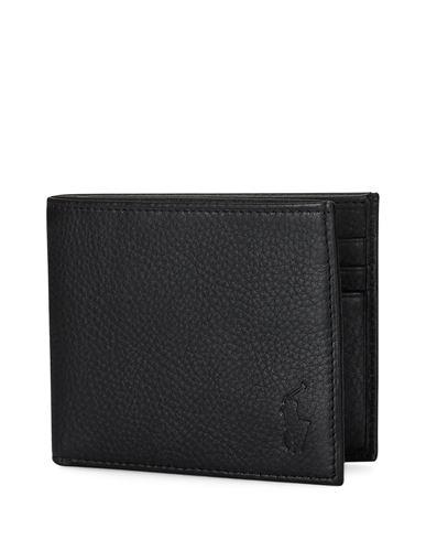 ed083de28d6 Portefeuille Polo Ralph Lauren Pebbled Leather Wallet - Homme - Portefeuilles  Polo Ralph Lauren sur YOOX - 46565313