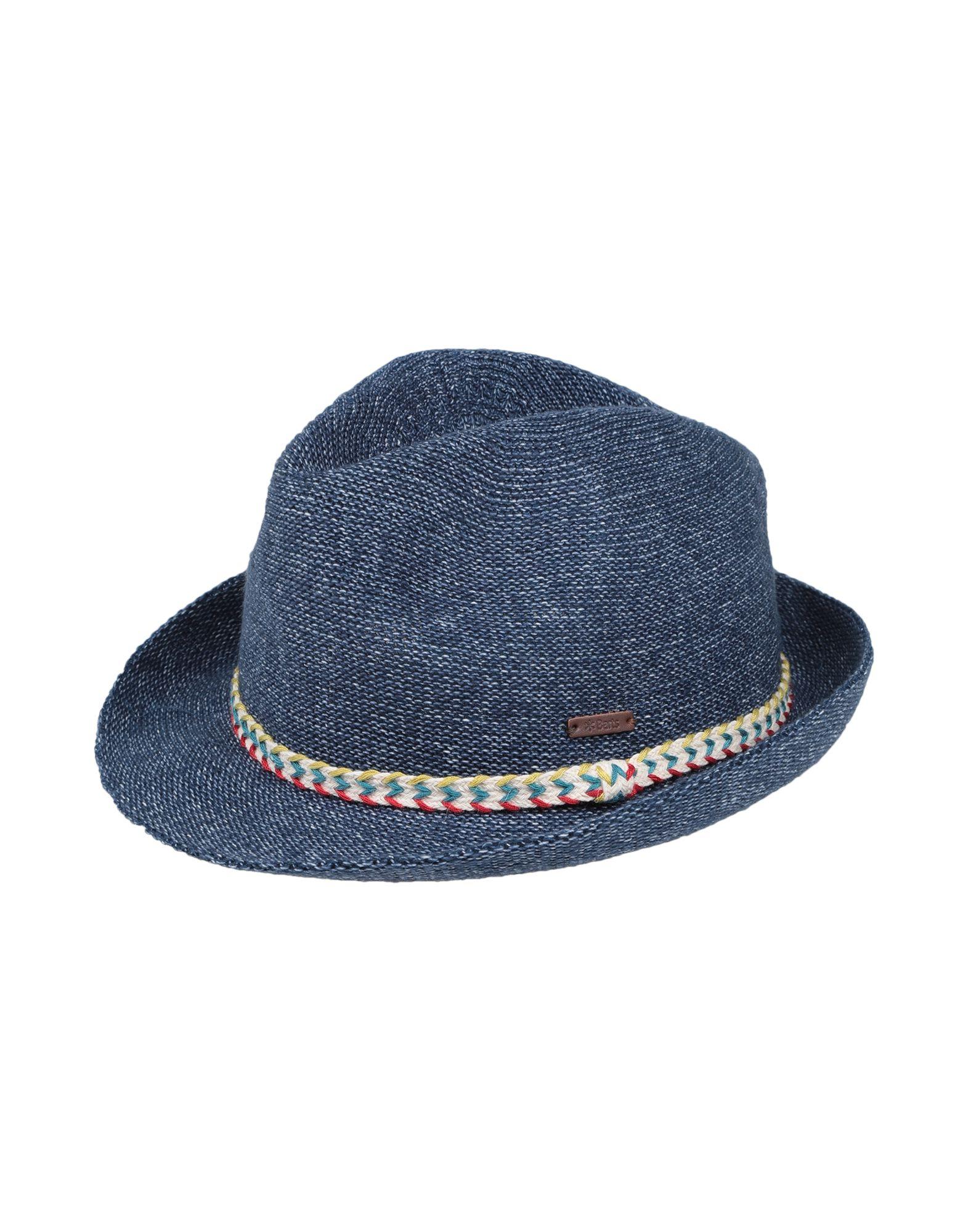 青色パナマ帽の画像