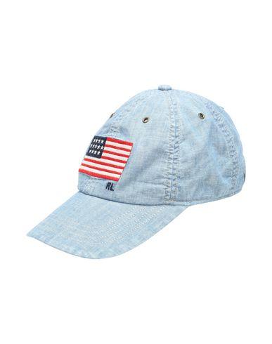 068b6755d8dee Polo Ralph Lauren Flag Chambray Baseball Cap - Hat - Men Polo Ralph ...