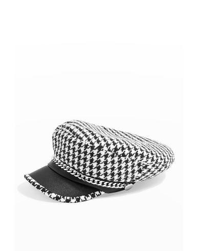 Topshop Houndstooth Baker Boy Hat - Hat - Women Topshop Hats online ... 8839204c13ec