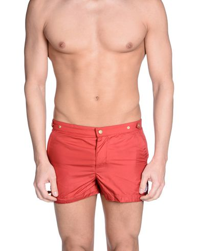 ROBINSON LES BAINS Swim Shorts in Red