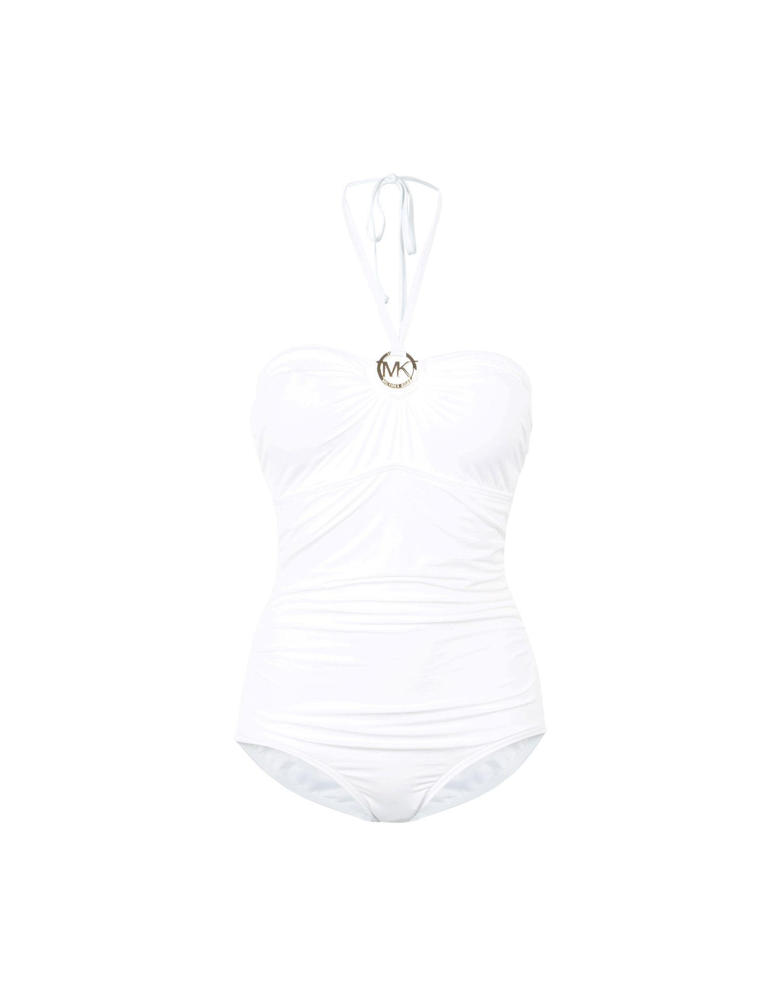 Costume Intero Michael Michael Kors Essential Solids Logo Ring Shirred Onepiece - Donna - Acquista online su j6YfR4g