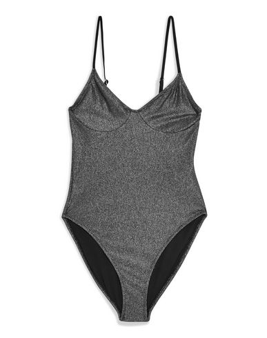 01473bf12bd2f Topshop Metallic Cami Swimsuit - One-Piece Swimsuits - Women Topshop ...