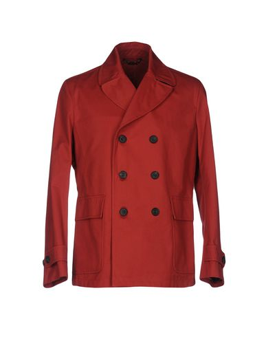 HARDY AMIES Double Breasted Pea Coat in Red