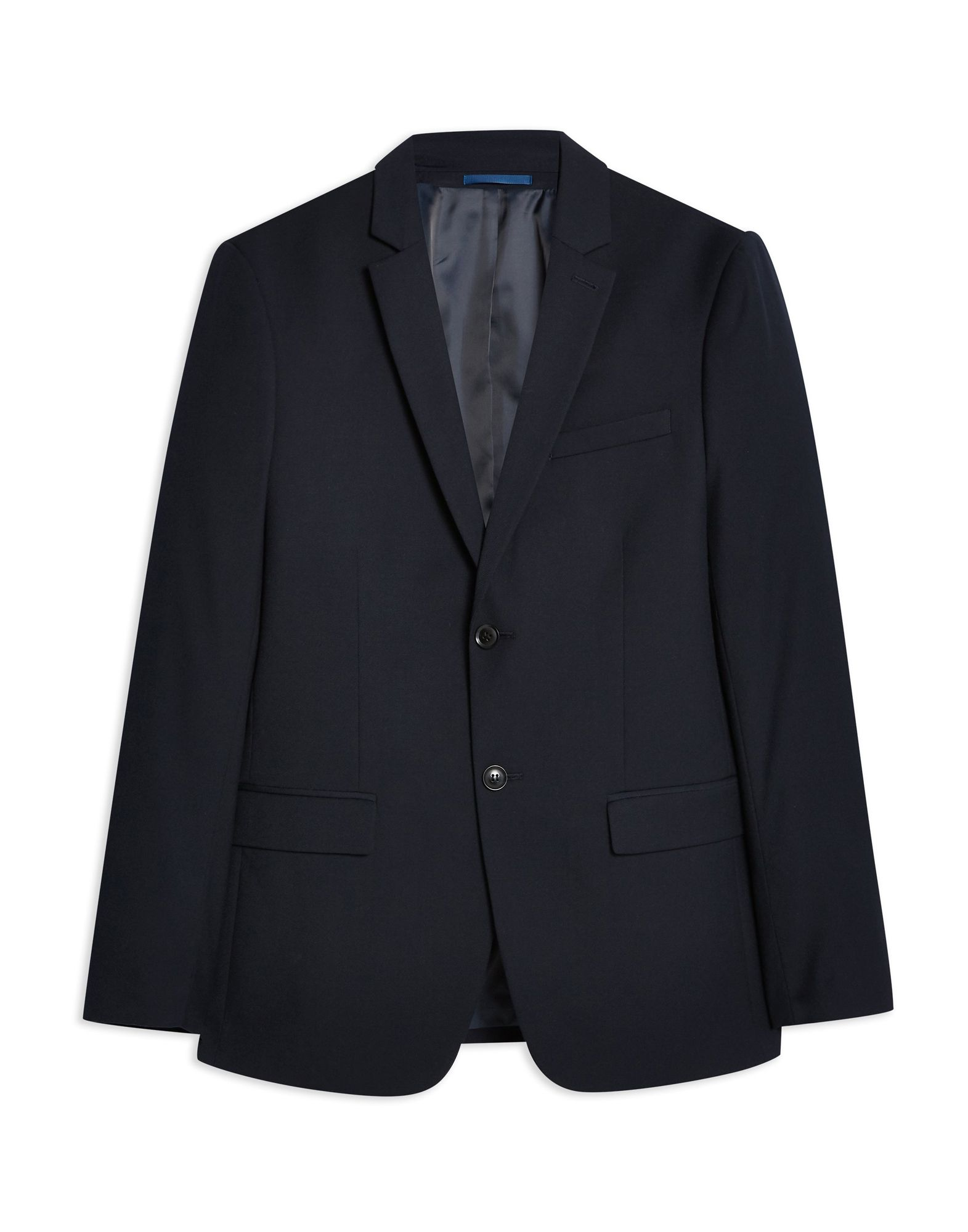 Giacca Topman Navy Texturosso Slim Slim Fit Suit Jacket - uomo - 49493739DX