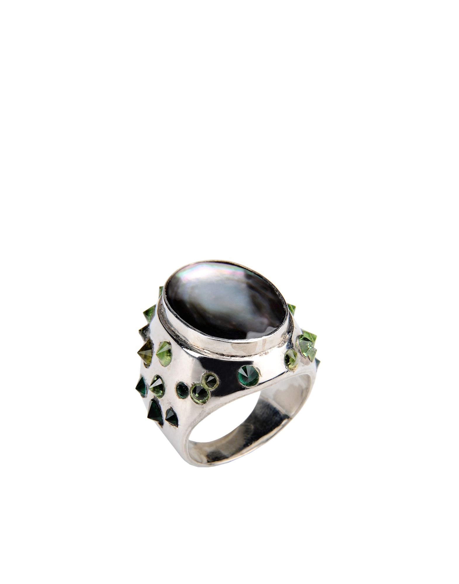 Studs On Grey Motherpearl Ring - Anello First People First - DESIGN+ART First People First - Acquista online su