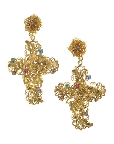 red gold progressive dangling clip and crystal dolce on roses products earrings earring womens heart pitterro gabbana