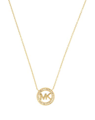 normal jewelry michael gold necklace in padlock metallic kors silver product lyst pendant