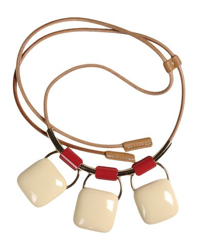 product gold stylight necklaces horn necklace marni shop red and suede up plated to crystal