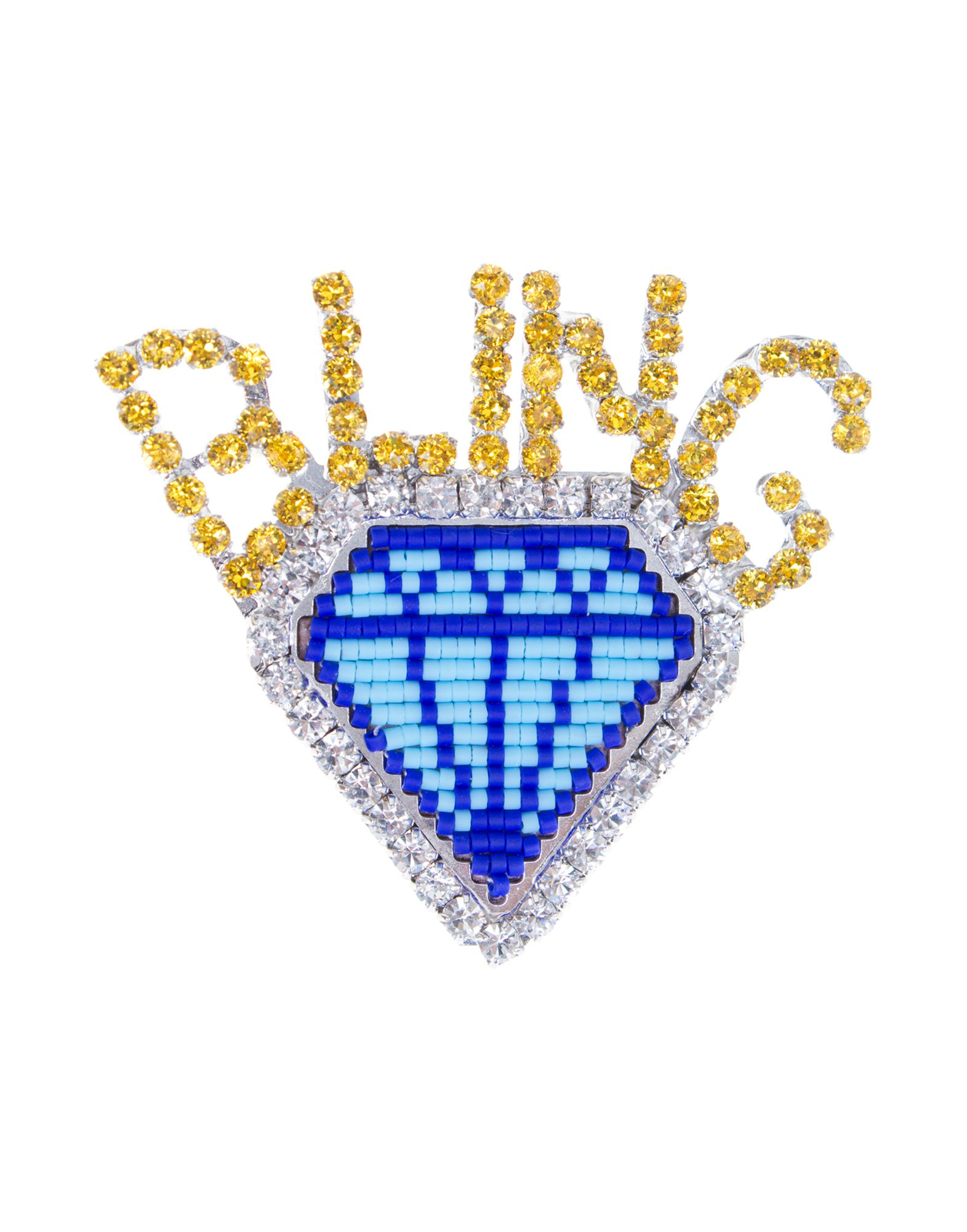 Spilla Shourouk Emojibling Diamond Brooch - Donna - Acquista online su