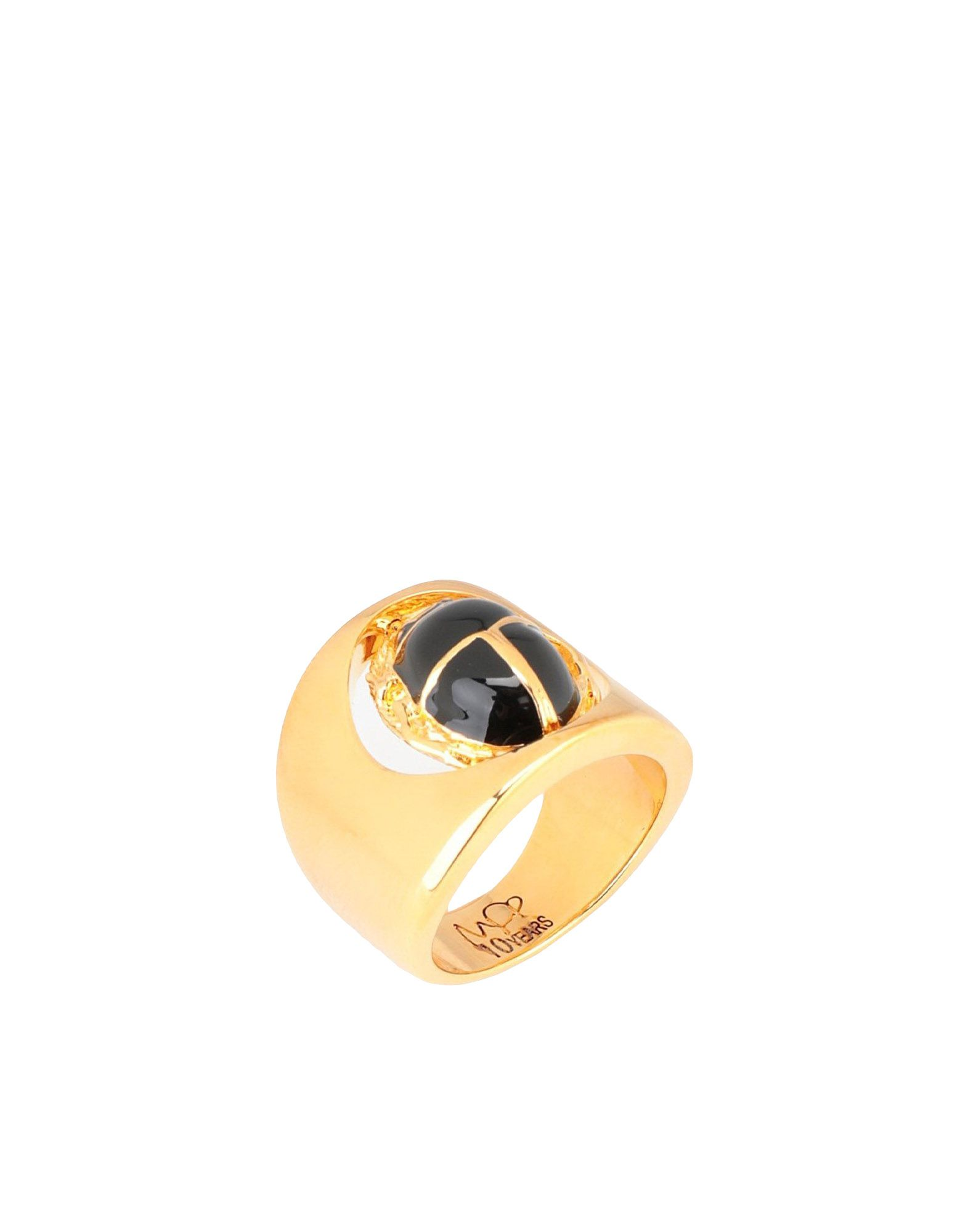 Anello Maria Francesca Pepe The Eternity-Index Ring With Enamelledscarab Charm - Donna - Acquista online su