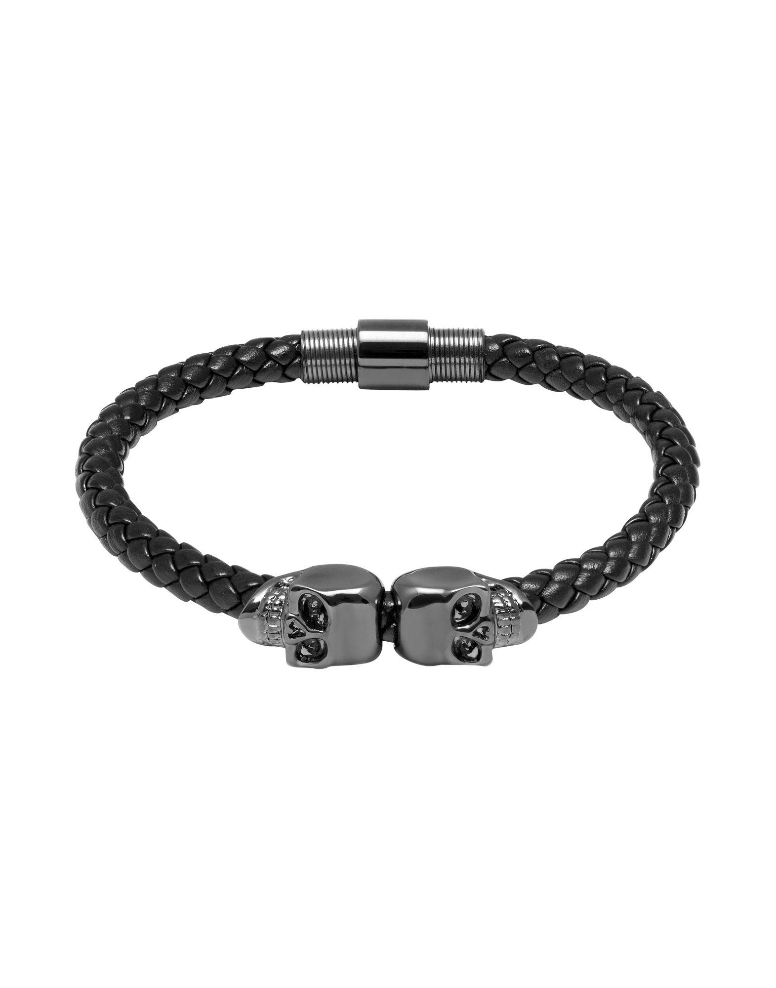 Bracciale Northskull London Twin Skull Bracelet - Uomo - Acquista online su