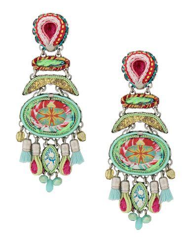 AYALA BAR Earrings in Acid Green