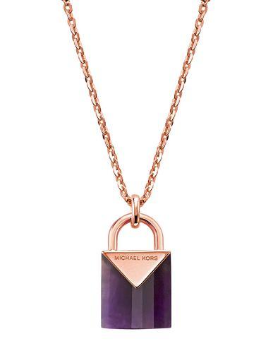 7a21bd79f57e Collar Michael Kors Collana Argento   Ametista - Mujer - Collares ...