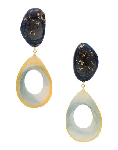 EJING ZHANG Earrings in Dark Blue