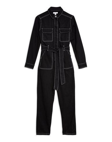 66597ce9d3 Topshop Black Denim Boiler Suit - Jumpsuit One Piece - Women Topshop ...
