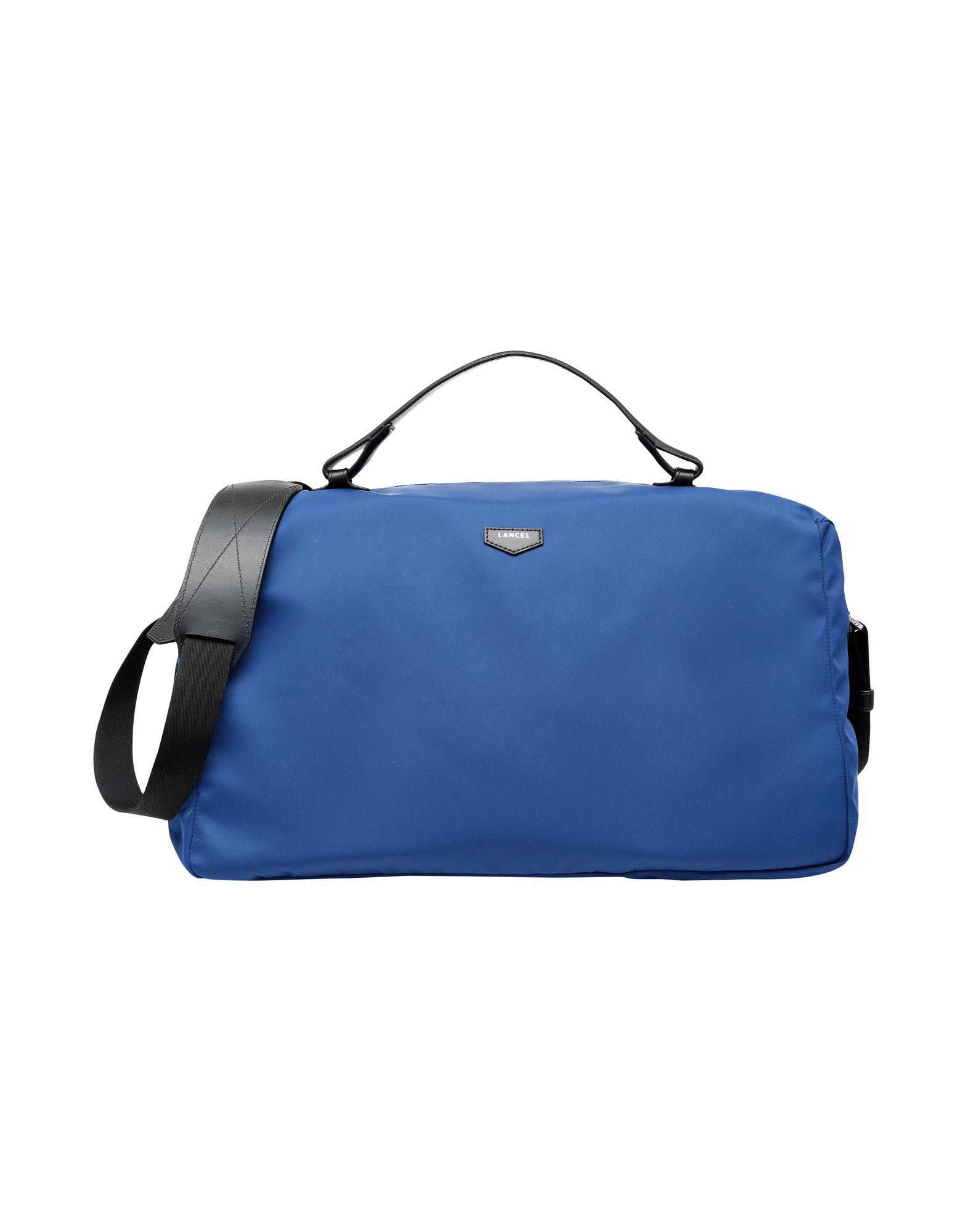 lancel pop canvas and leather travel duffel bag men lancel