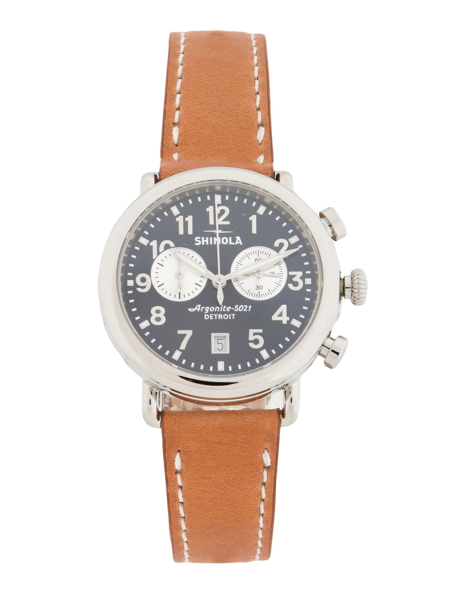 Orologio Da Polso Shinola  Runwell 2 Eye Chrono 41Mm, Tan Leather Strap - Uomo - Acquista online su